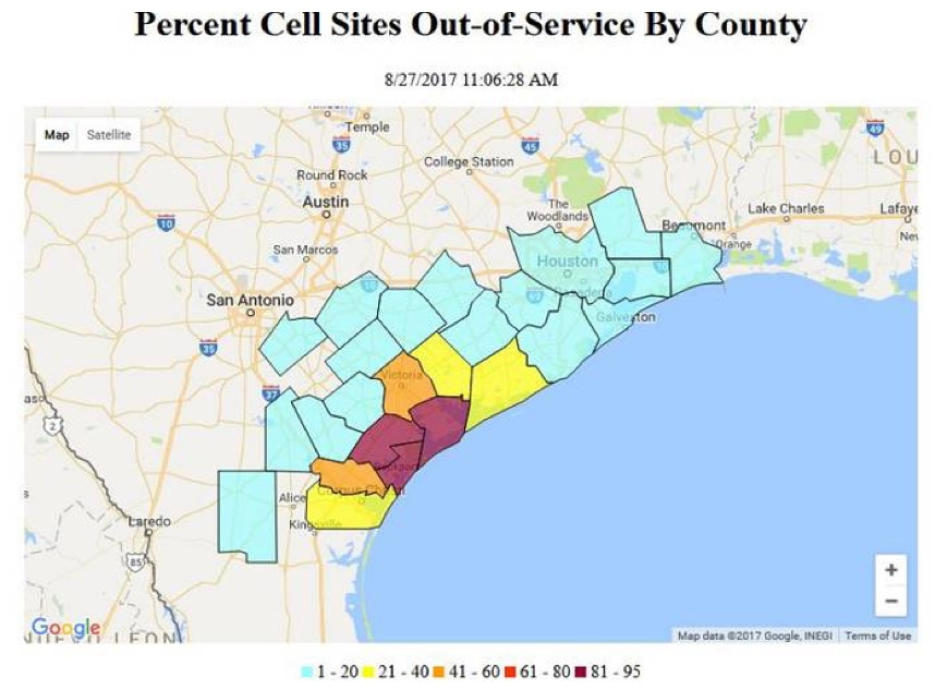 cell service in Houston Harvey
